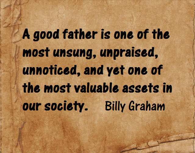 Billy Graham quote on brown background