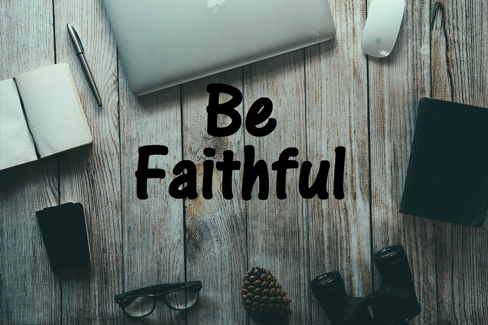 Be Faithful computer graphic image card